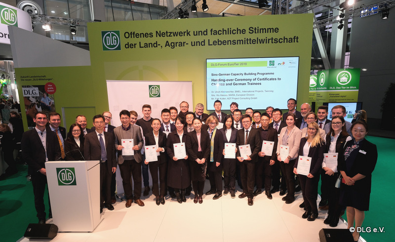 Ceremony for handing-over of certificates for German and Chinese trainees
